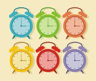Cute alarm vector Stock Image