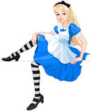 Cute Alice. Illustration of cute sitting Alice Royalty Free Stock Photo