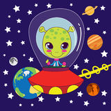 Cute Alien vector illustration