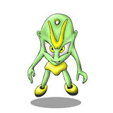 Cute alien cartoon vector Royalty Free Stock Photos