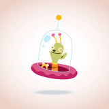 Cute alien character Royalty Free Stock Images