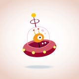 Cute alien character Stock Images