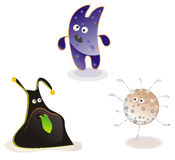 Cute alien creatures, fantastic heroes Royalty Free Stock Images