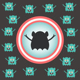 Cute alien invasion. Vector illustration Royalty Free Stock Photography