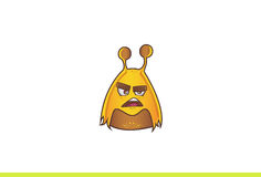 Cute Alien Monster Angry. Royalty Free Stock Photo