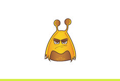 Cute Alien Monster angry. Stock Photo