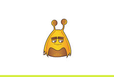 Cute Alien Monster Sad. Royalty Free Stock Photography