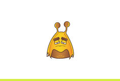 Cute Alien Monster Sad. Royalty Free Stock Images