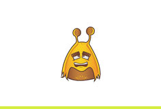 Cute Alien Monster Tired. Royalty Free Stock Photo