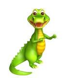 Cute Aligator cartoon character Royalty Free Stock Photos