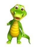 Cute Aligator cartoon character Stock Photography