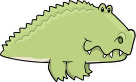 Cute Alligator Vector Illustration Stock Photography