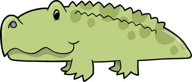Cute Alligator Vector Illustration Royalty Free Stock Photography