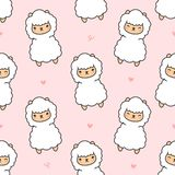 Cute alpaca Seamless Pattern Background vector illustration