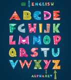 Cute alphabet. With hand drawn pattern Royalty Free Stock Photography