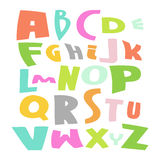 Cute Alphabet Vector Set illustration. Cute Alphabet colorful Vector Set illustration  on white Royalty Free Stock Images