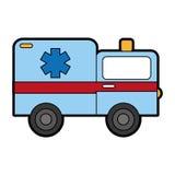 Cute ambulance car cartoon Royalty Free Stock Photos
