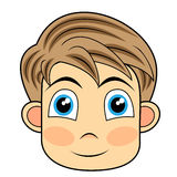 Cute And Happy Looking Face Of A Young Boy Royalty Free Stock Photography