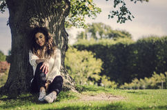 Free Cute And Playful Woman Having A Good Mood In Nature Royalty Free Stock Image - 52320556