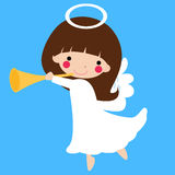 Cute angel. Illustration of a cute angel Stock Image