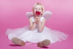 Cute  angel. Cute girl dressed as an angel Royalty Free Stock Image