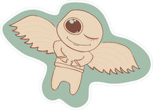 Cute angel. Illustration cartoon angel.  Fun. Fairy Royalty Free Stock Image