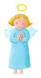 Cute Angel. Acrylic illustration of cute Angel Stock Image