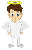 Cute Angel Boy Stock Images