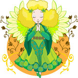 Cute Angel cartoon  Stock Photography