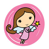 Cute angel. Cartoon  i Royalty Free Stock Photos