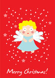 Cute angel christmas card Royalty Free Stock Photography