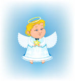Cute angel with Christmas star Royalty Free Stock Image