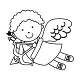 Cute angel cupid character. Illustration design Royalty Free Stock Photo