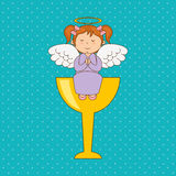 Cute angel design Royalty Free Stock Photography