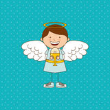 Cute angel design Royalty Free Stock Images