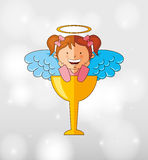 Cute angel design Royalty Free Stock Photo