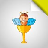 Cute angel design Royalty Free Stock Image