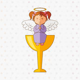 Cute angel design Stock Images