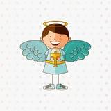 Cute angel design. Illustration eps10 graphic Stock Photos