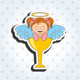 Cute angel design Royalty Free Stock Image
