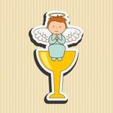 Cute angel design. Illustration eps10 graphic Stock Image