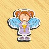 Cute angel design. Illustration eps10 graphic Stock Photo