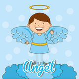 Cute angel. Design, vector illustration eps10 graphic Royalty Free Stock Image
