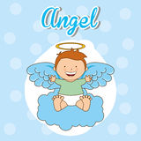 Cute angel. Design, vector illustration eps10 graphic Stock Photography
