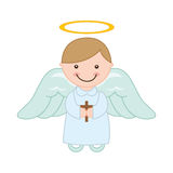 Cute angel. Design, vector illustration eps10 graphic Stock Photos
