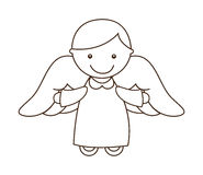 Cute angel. Design, vector illustration eps10 graphic Stock Image