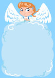 Cute angel empty letter. An empty page to write with a sweet little angel royalty free illustration