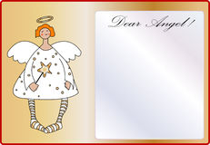 Cute angel empty letter Stock Image