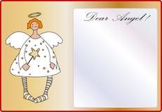 Cute angel empty letter stock illustration