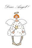 Cute angel empty letter Stock Images